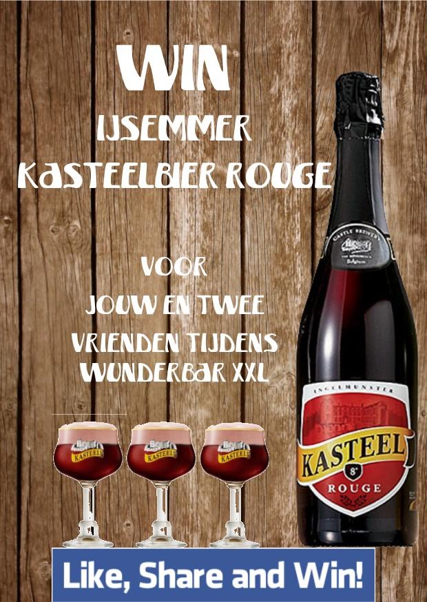 Winnaars ijsemmer Kasteelbier Rouge